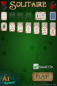 Solitaire Android intro screen
