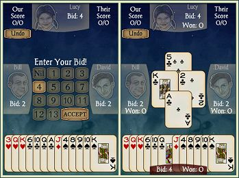 Android Spades Free screen shots